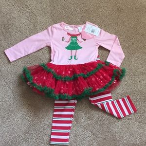 NWT Girls 2 piece Christmas outfit!